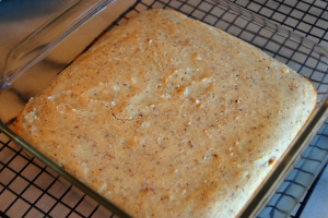 Banana almond bars - second batch